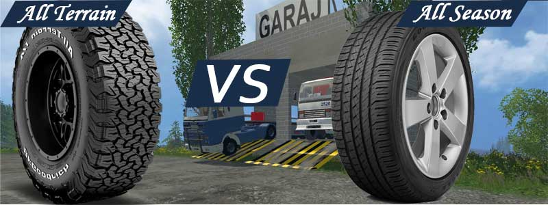 All Terrain Versus (VS) All Season Truck, Car and SUV Tires