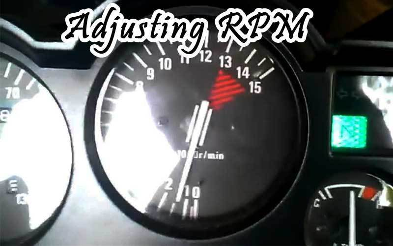 adjusting RPM