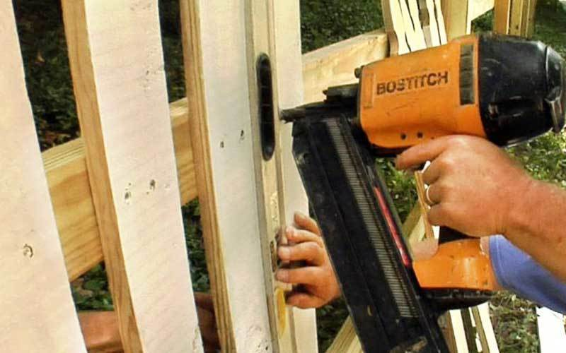 fencing using nail gun