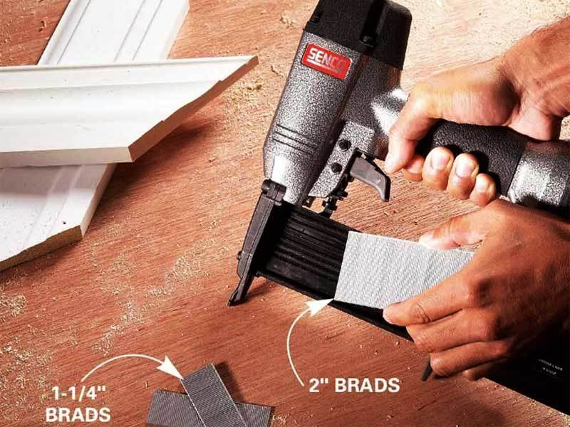 use nail gun for trim