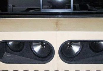 install subwoofer in truck