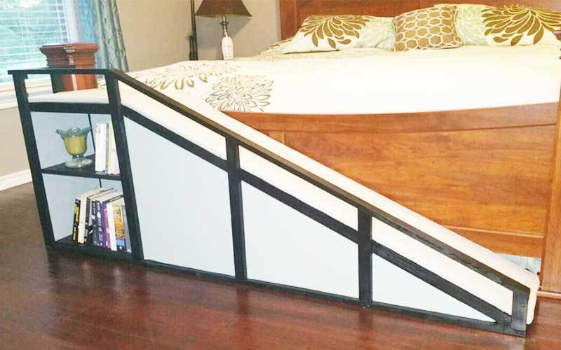 how to build dog ramp for bed