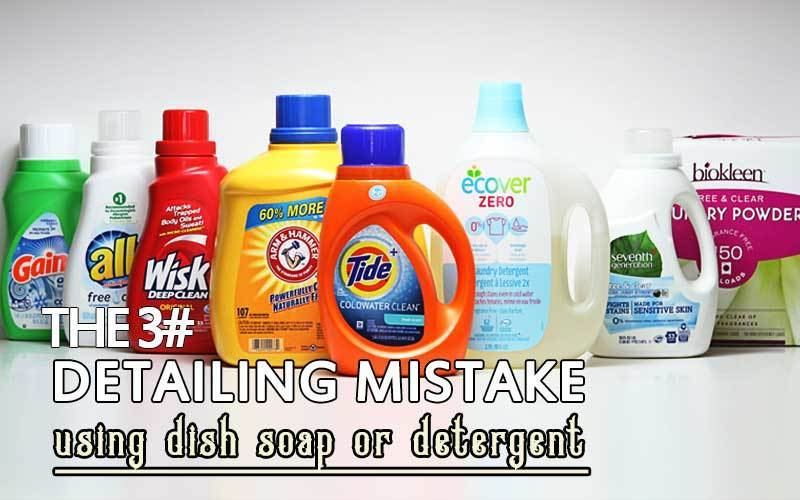 Using Dish Soap Or Detergent