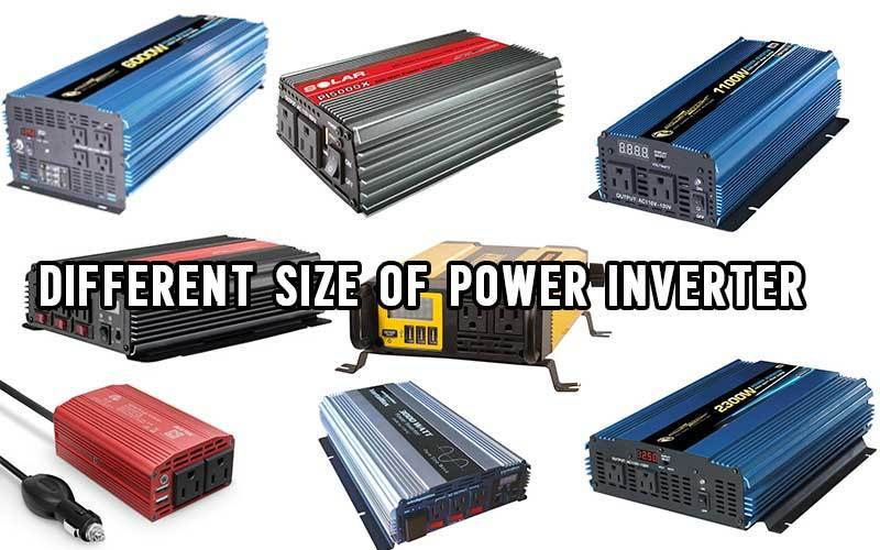 different size of power inverter