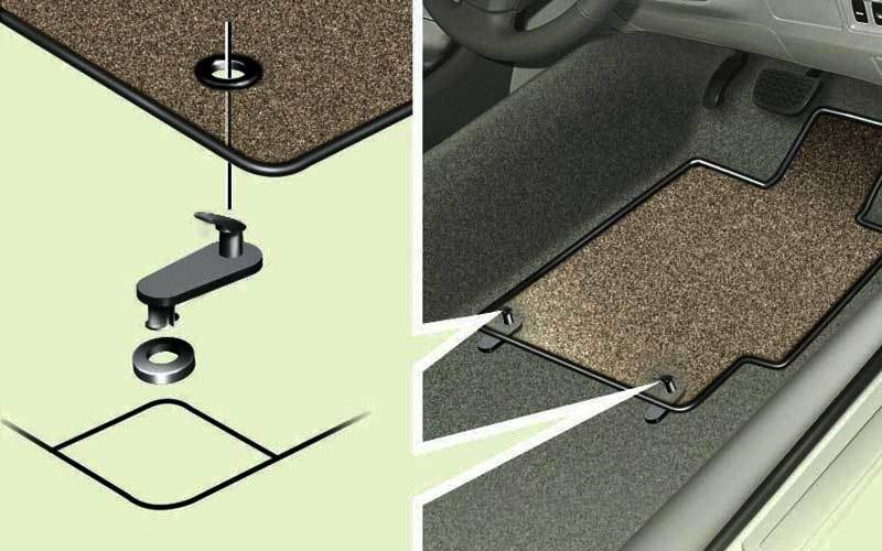 Floor Mat Clips to secure them