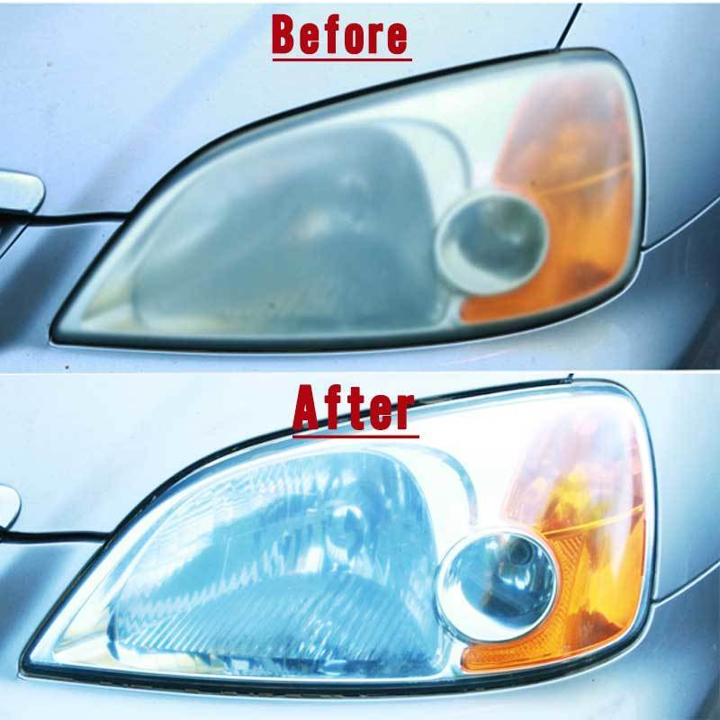 How to clean clean plastic headlights