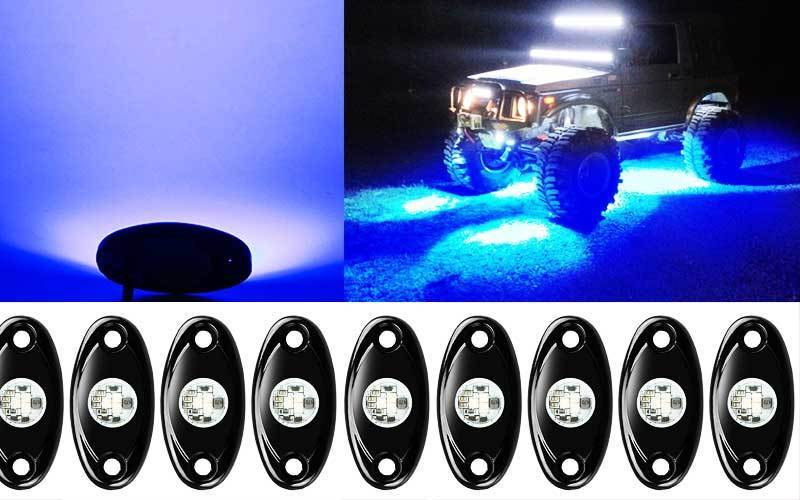 Ampper 4 Pods LED Rock Lights Kit review