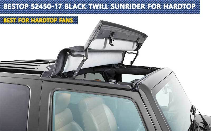 Bestop 52450-17 Black Twill Sunrider for Hardtop review