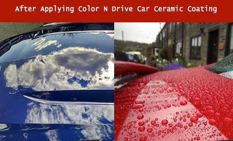 After applying Color N Drive Car Ceramic Coating