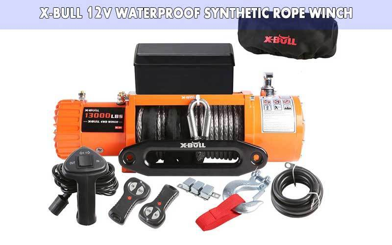 X-BULL 12V Waterproof Synthetic Rope Winch review