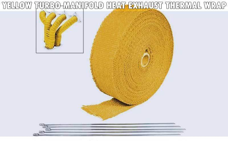 Yellow Turbo Manifold Heat Exhaust Thermal Wrap review