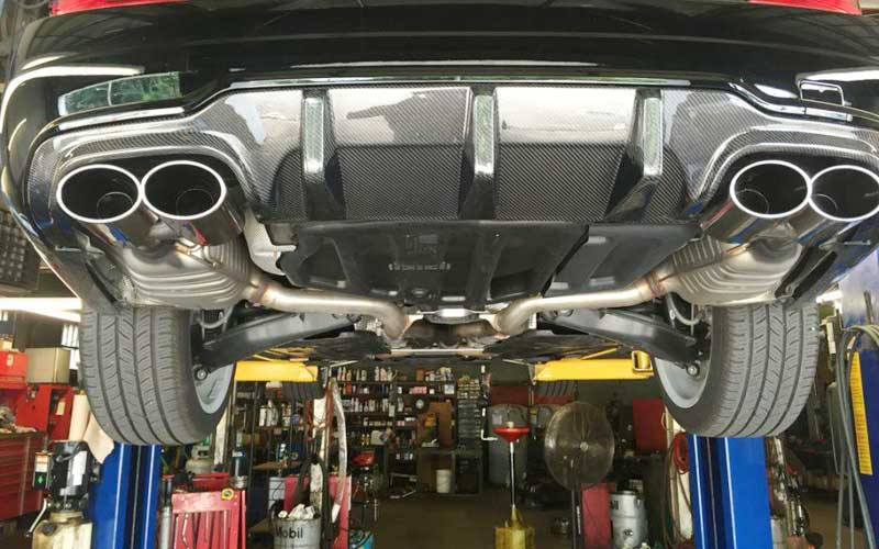 use straight pipe exhausts