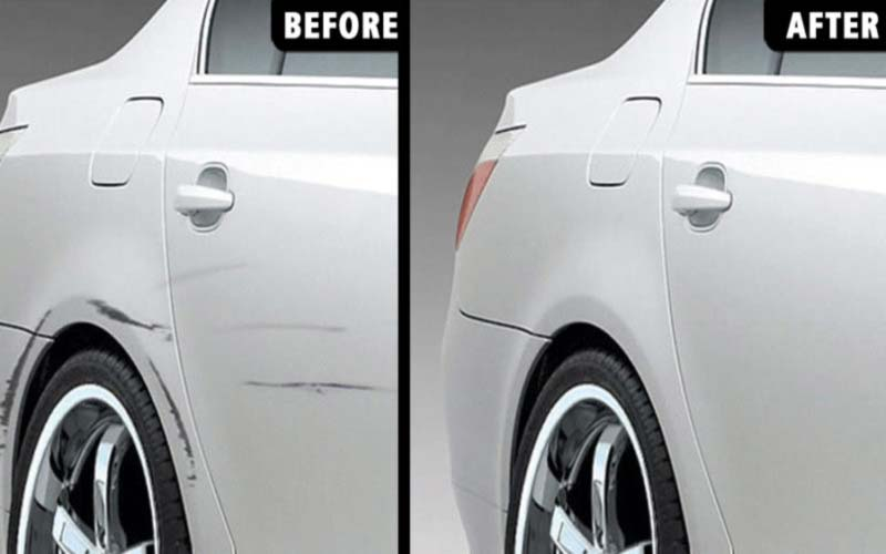 Following steps to Remove Scratches from the Bumper