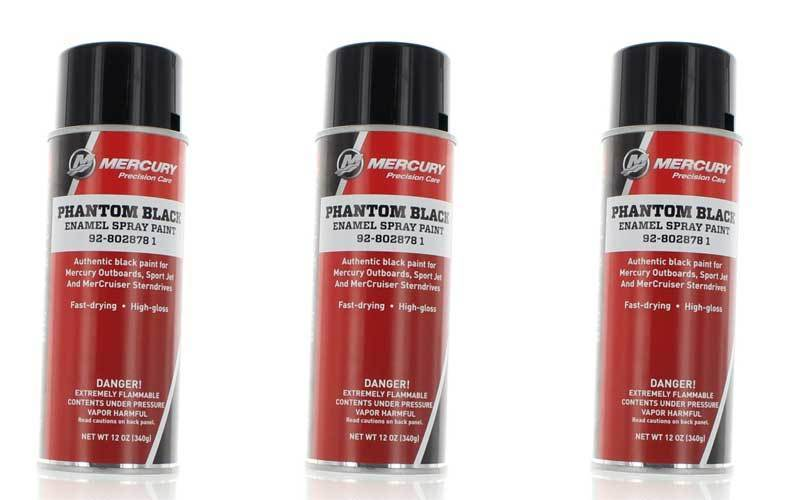 OEM Mercury Marine Outboard Precision Phantom Spray Paint review