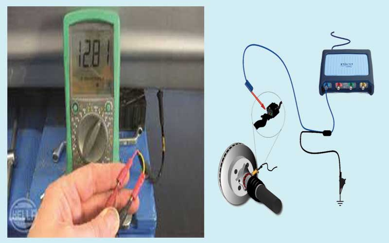 how to check abs sensor with voltmeter