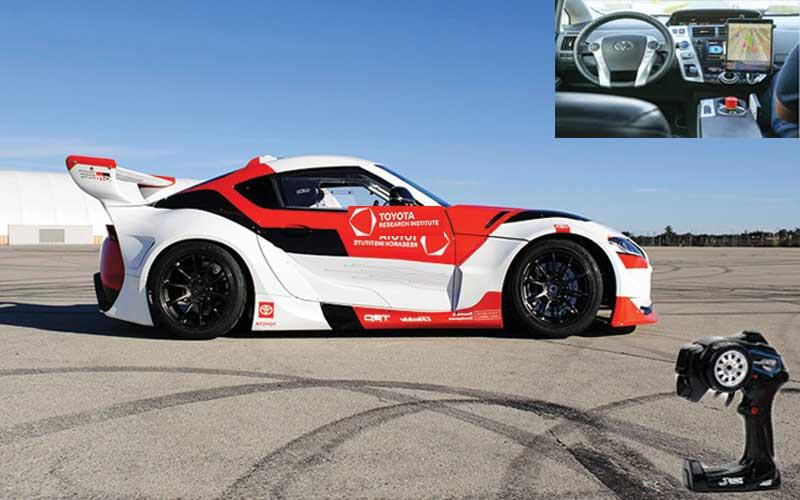 Overlook Toyota self driving supra drift car