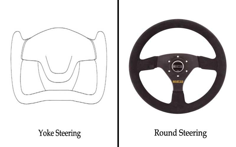 Round steering vs yoke steering