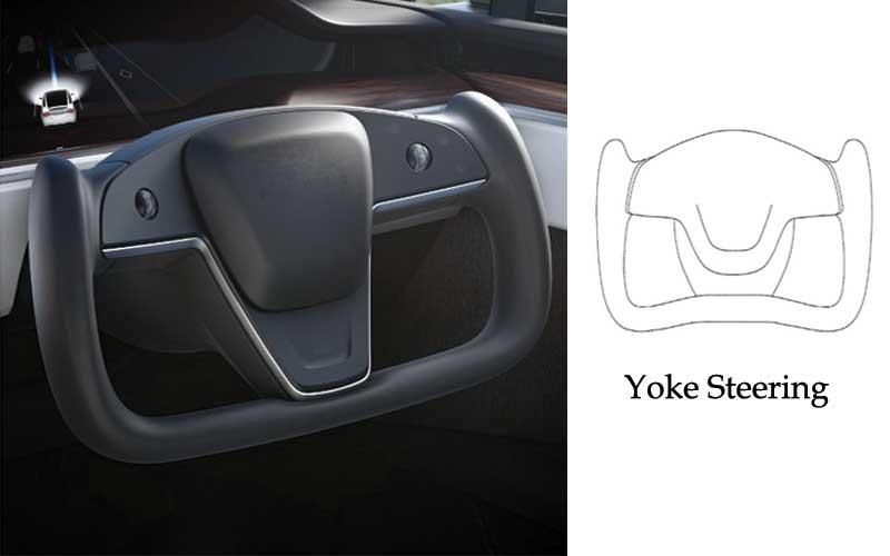 Tesla new model yoke steering